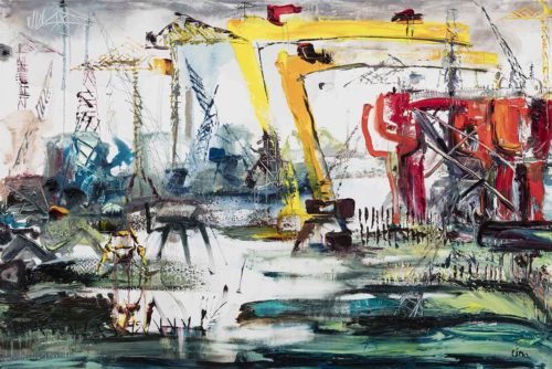 Oil Rig In The Docks