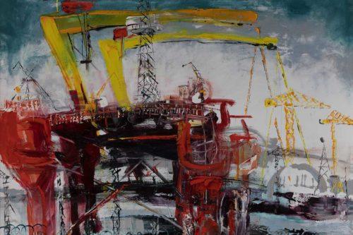 Oil Rig In Belfast Harbour